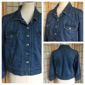 Chico's Activewear Cropped Jean Jacket